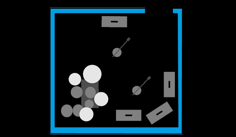 Plano del local 2 de los locales de ensayo